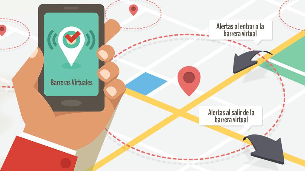 Como localizar un celular por GPS usando barreras virtuales y alarmas.